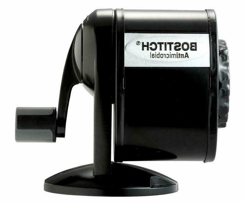 Bostitch Metal Antimicrobial Manual Pencil Sharpener, Black New + Ship