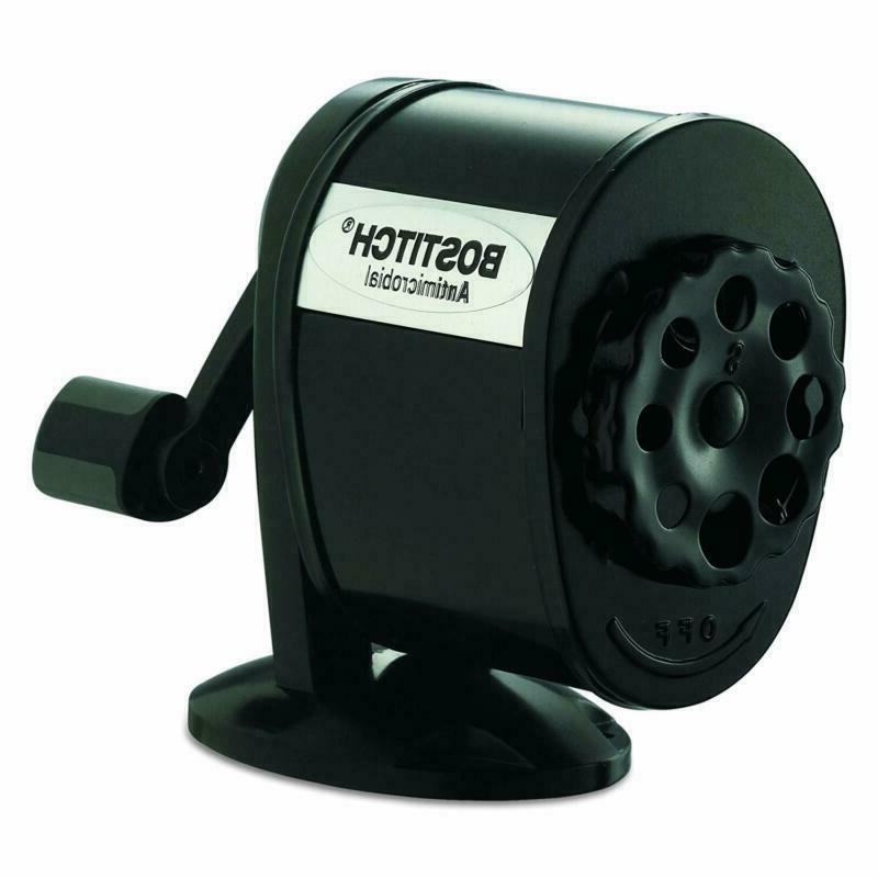 bostitch metal antimicrobial manual pencil sharpener black