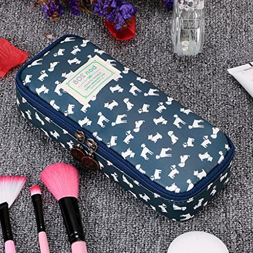 BTSKY Cute - High Pencil Pouch Multifunction Cosmetic Makeup Perfect Holder for and