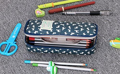 BTSKY Cute Pencil Case - Pencil Pouch Multifunction Cosmetic Perfect Holder and