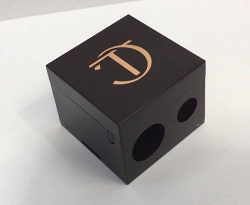 double cube pencil sharpener rose gold