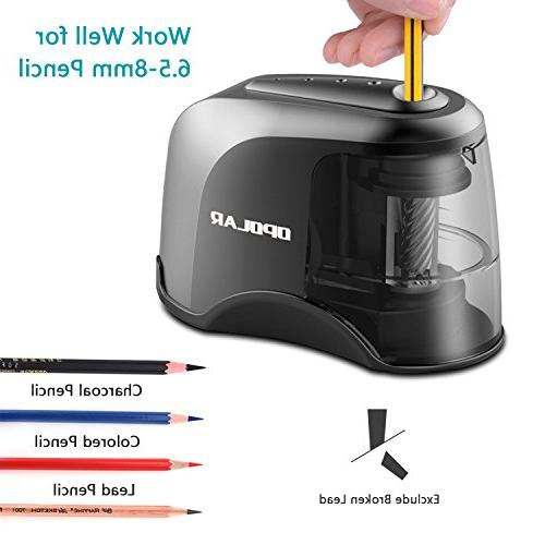 OPOLAR Electric Pencil Sharpener, USB Batteries Operated for No. and Colored Blade, for Student, Artist