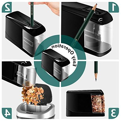 Electric Pencil Sharpener, Lovin Product Pencil Sharpener; Auto Feature, USB/Battery School, Classroom, Black