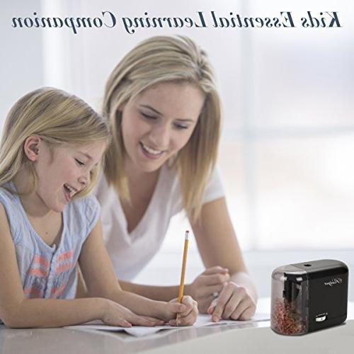 Electric Pencil Sharpener, Feature Best Duty Helical Blade Sharpeners for Office School Classroom Kids Artists, or No.2