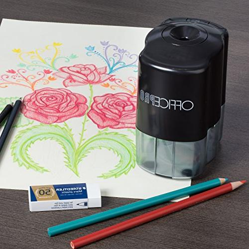 OfficePro Pencil - For Classroom, Steel Sharpens All Pencils Color, Feature, - Batteries Included