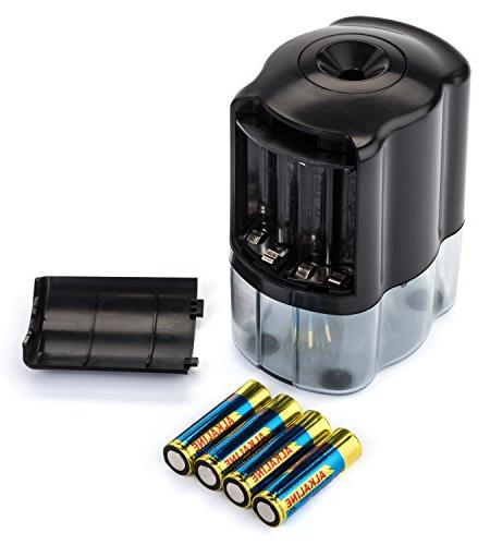 OfficePro Electric Pencil Sharpener - and Classroom, Steel Sharpens Color, Auto-Stop -