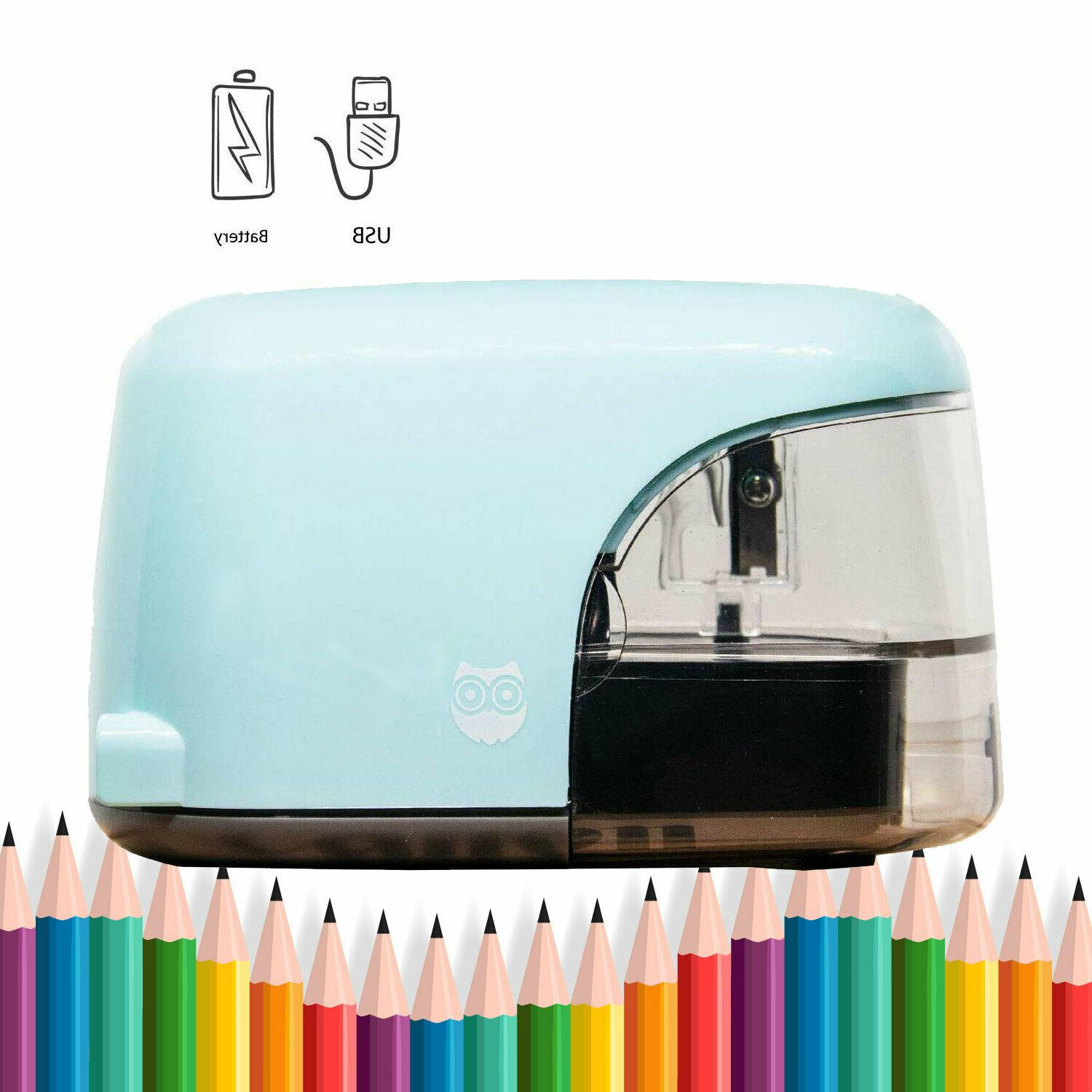 Electric Pencil Sharpener, USB Plug in Battery Power Automat