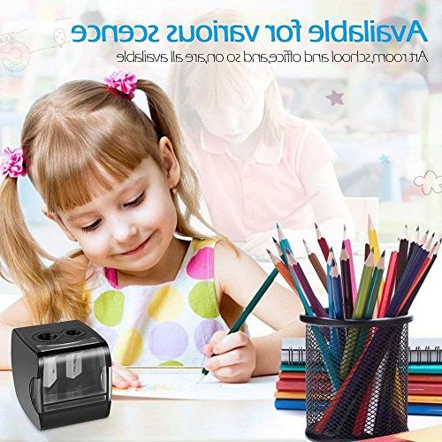 Electric Pencil Sharpener, AOFU USB Double Operated for Office -003