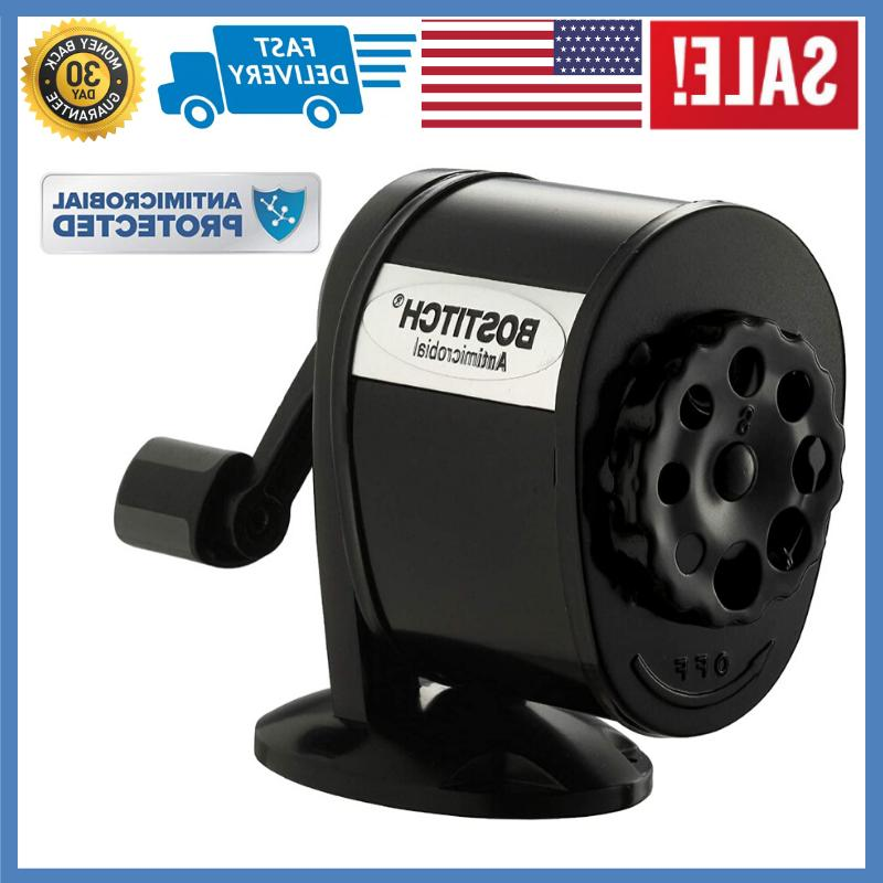etal antimicrobial manual pencil sharpener black new