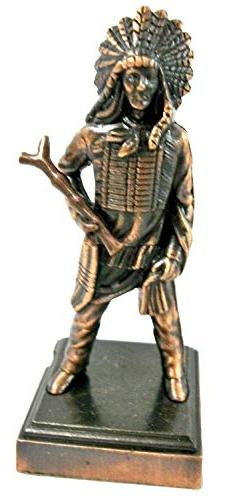Indian Chief Die Cast Metal Collectible Pencil Sharpener