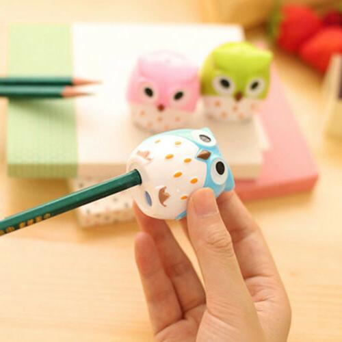 kawaii owl shape pencil sharpener school student