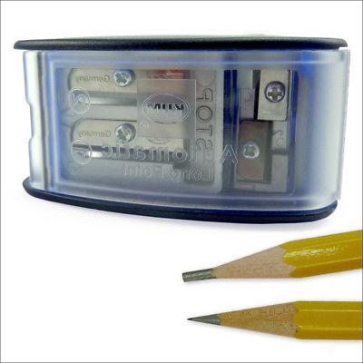 long point pencil sharpener with lead pointer