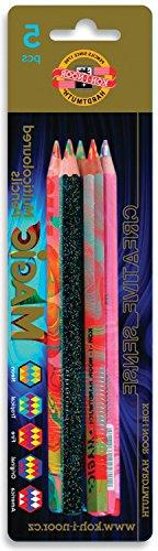 Koh-i-noor Magic Pencils with Multi-Color Leads Set of 5