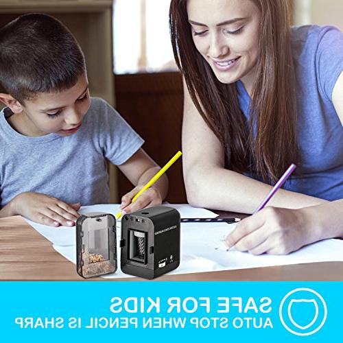 BOOCOSA Sharpener, Heavy Steel Blade, Electric Sharpener with Auto for School Classroom Office – Precise Perfect Every time Artists Adults