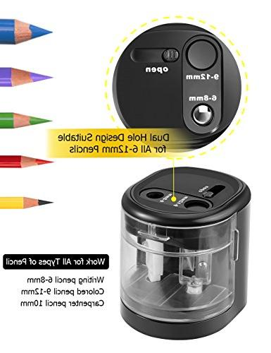 Pencil Sharpener Operated, Portable with Large and Blades, for No.2/Colored Pencils/Drawing/Charcoal Pencils,