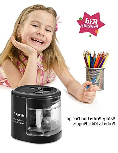 Pencil Sharpener Portable Sharpener with Large and Replaceable Blades, Pencils/Drawing/Charcoal Pencils, School,