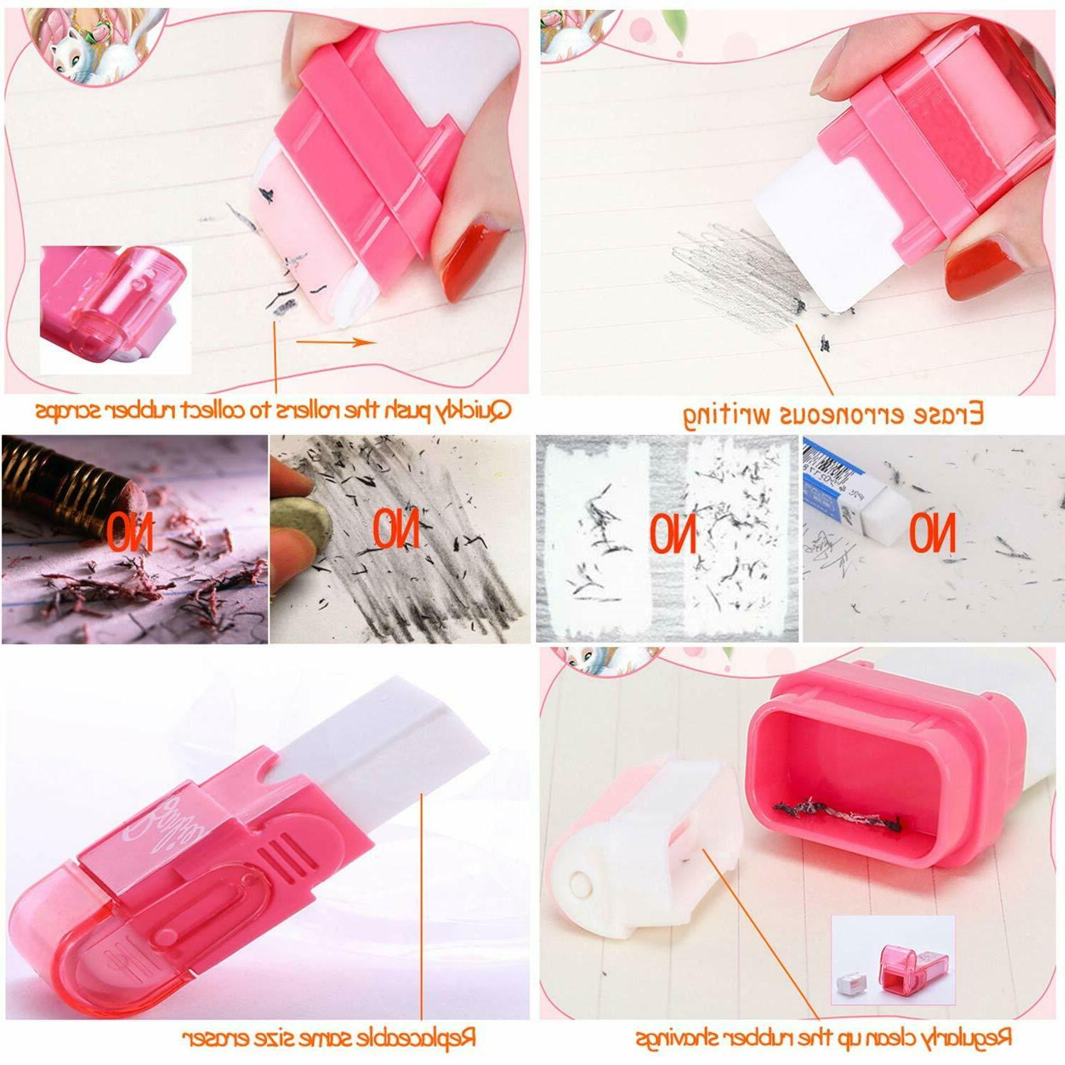 Pencil Sharpener and Erasers clean Up