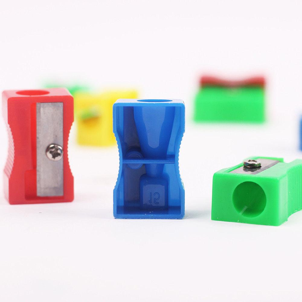 10Pcs Plastic Pencil Cutter Stationery Student