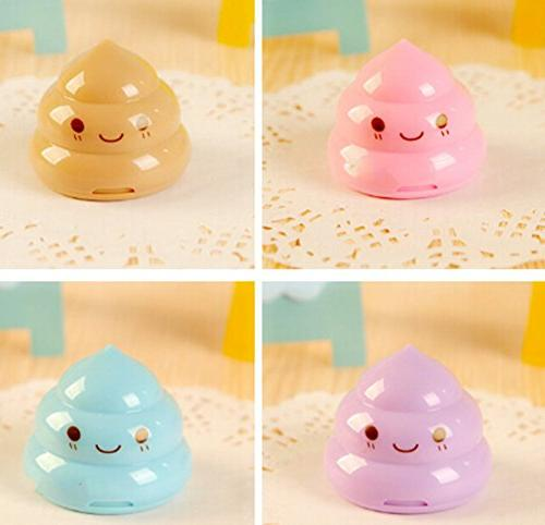 Hosaire Novelty Crazy Manual Poo Pencil Sharperners Toy Prizes For Kids Bulk Classroom Purple