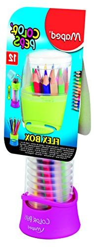 Maped Color'Peps Colored Pencils in Flex Box, Assorted Color