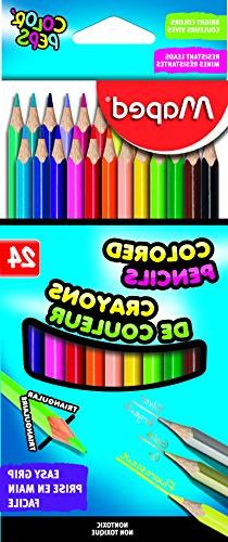 Maped Color'Peps Triangular Colored Pencils, Assorted Colors