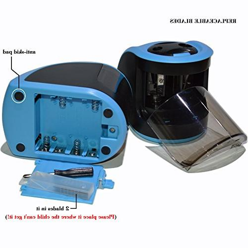 iSeaFly Portable Sharpener, Operated Sharpener All Kinds Pencils