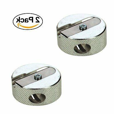 round metal double sharpener pack of 2
