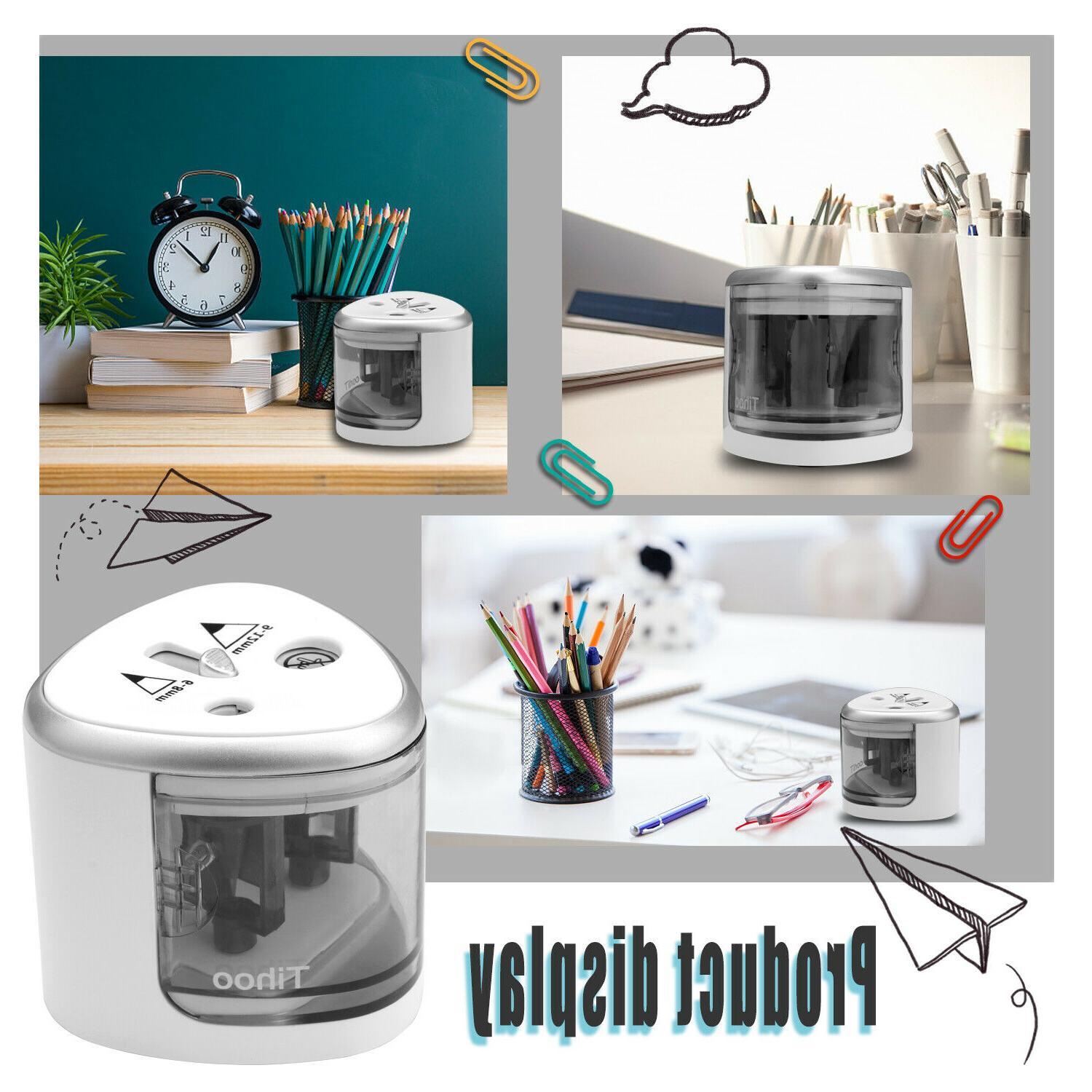 Small Automatic Electric Colored Pencil Sharpener For