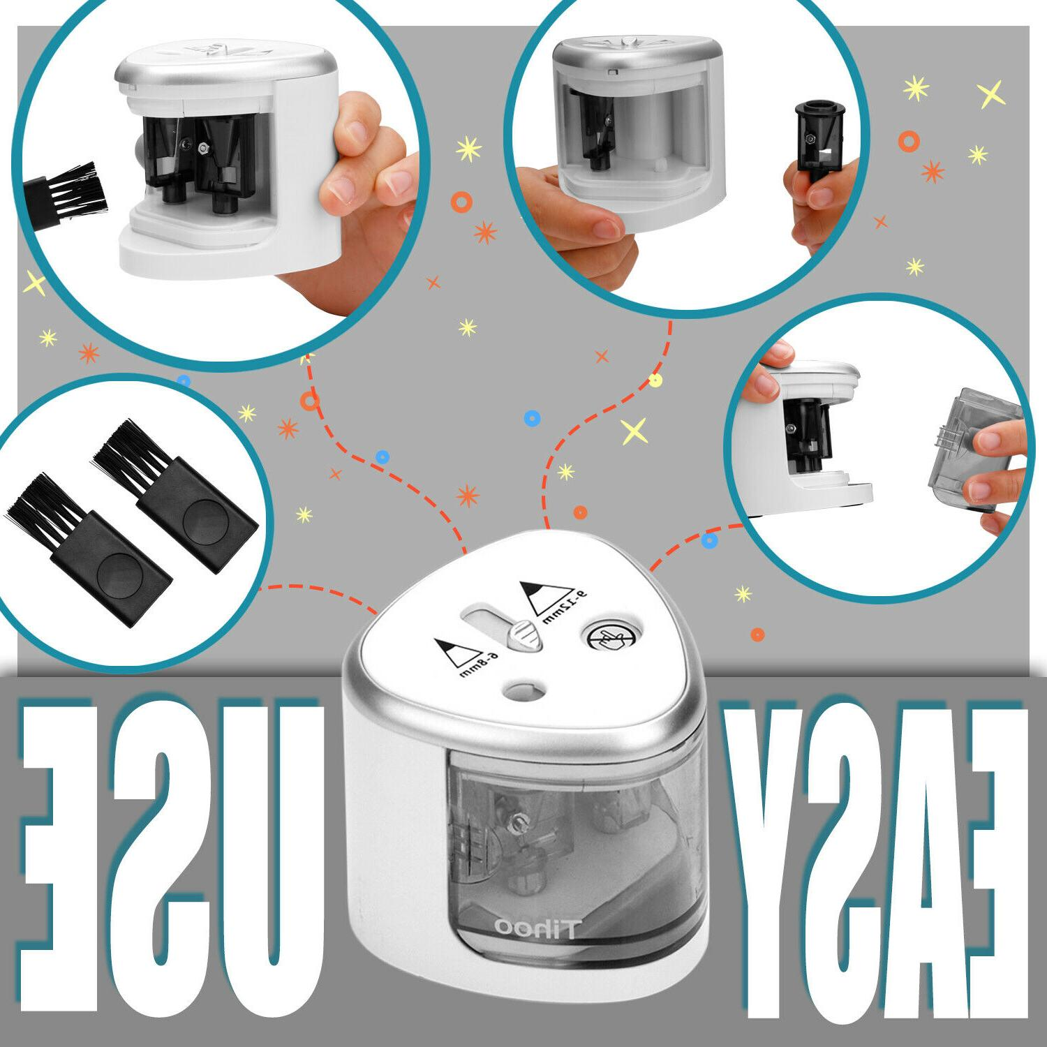 Small Automatic Electric Regular Colored Pencil Sharpener Kids School