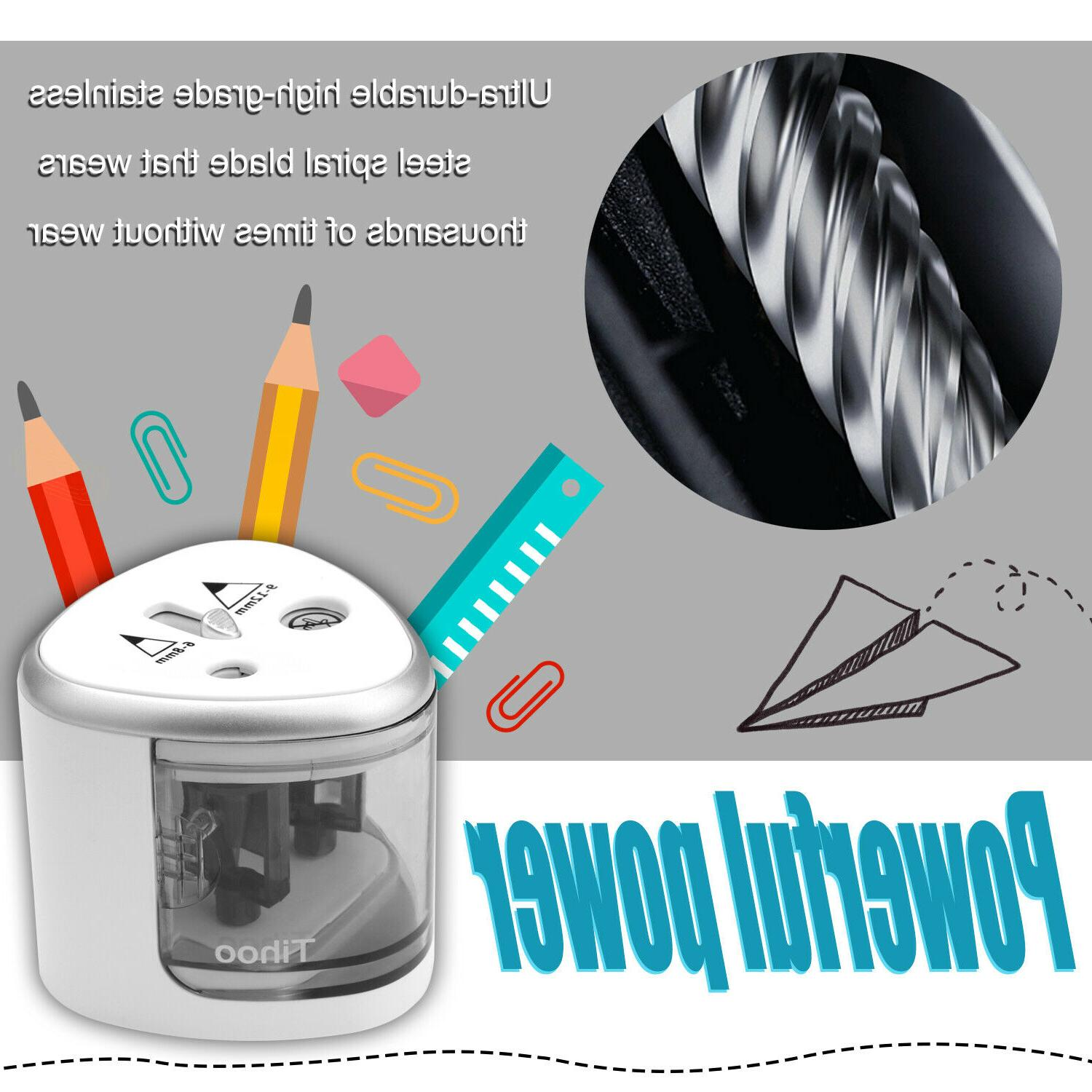 Small Automatic Electric Colored Pencil Sharpener Kids
