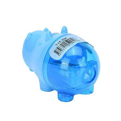Stationery Hippo Plastic Sharpener Student Kids use SN
