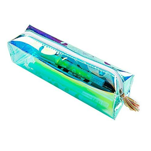 students holographic pencil case holder