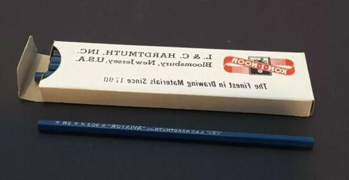 "Vintage KOH-I-NOOR Black 903-2H Pencils /""AVIATOR/"" by L /& C HARDTMUTH ~Box of 12"