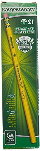 Ticonderoga No. 2.5 Woodcase Pencils - 2.5 Pencil Grade - Bl