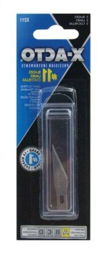 X-Acto X211#11 Blades for X-Acto Knives, 5/Pack