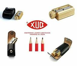 Legendary DUX Adjustable Pencil Sharpener - brass in a genui