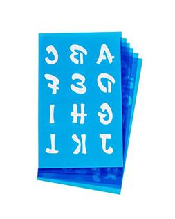 Westcott LetterCraft Stencil, Candy Font, 3/4-Inch and 1-Inc