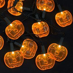 LED Lights 10 Count Toddlers Kids Jack O Lantern Scary Spook