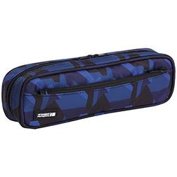 LIHIT LAB Pen Case, 9.4 x 1.8 x 3 inches, Navy Camouflage