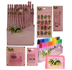 Ed Hardy Lily Bee 8 Piece School Classroom Supplies Stationa