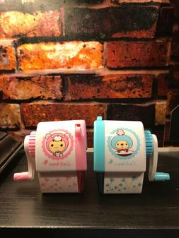 Lot of 2 CUTE Kids Pencil Sharpener Stationery Hand Crank Me