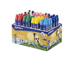 Lyra Lyrax Wax Giants Box Case Wax Crayons Assorted Colours