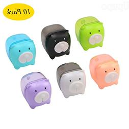 Upupo 5 Pcs Manual Pencil Sharpener, Mini Pig Colored Portab