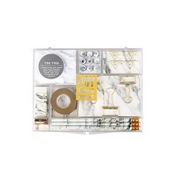 Marble White Stationery Gift Kit School Office Supplies Stat