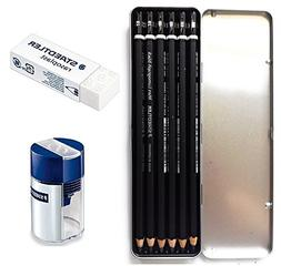 Staedtler Mars Lumograph Black Artist Wooden Lead Pencil - B