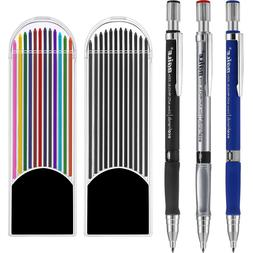 Jovitec 3 Pieces 2.0 mm Mechanical Pencil with 2 Cases Lead