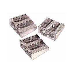 KUM Metal 2-Hole Pencil Sharpener, 12 Count Box
