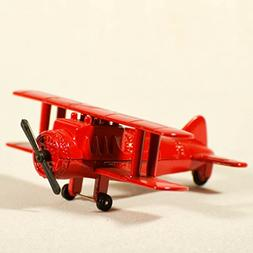 Metal Die Cast Red Airplane Miniature Pencil Sharpener Bi-pl