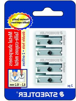 Staedtler Metal Sharpeners, Double Hole for Pencils and Colo