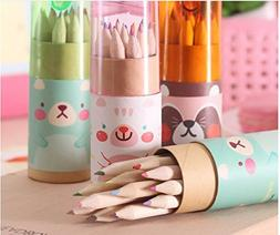 12 Colors Mini Cute Child Gift Wooden Painting Writing/Mini